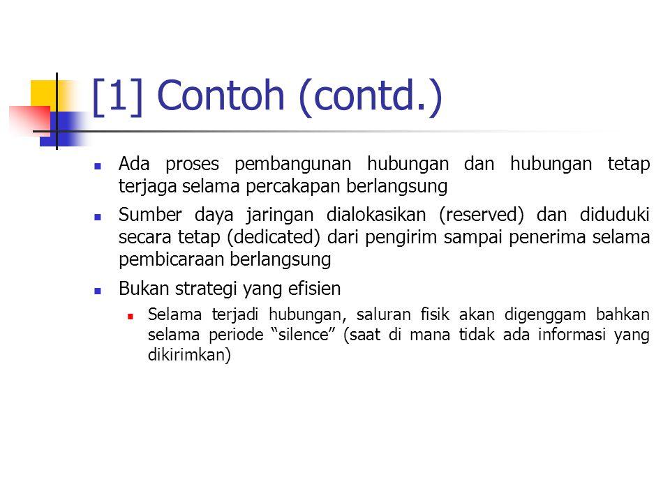 [1] Contoh (contd.) Ada proses pembangunan hubungan dan hubungan tetap terjaga selama percakapan berlangsung.